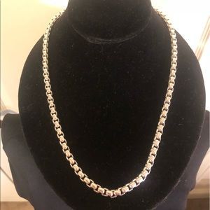 White Gold Plated,chain style necklace for men.